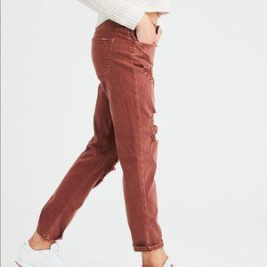 American Eagle Rust Tomgirl Distressed Jeans